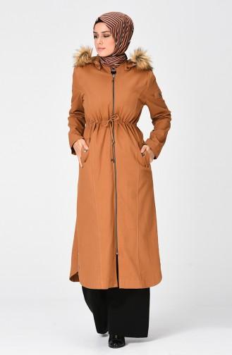معطف طويل أصفر خردل 4040-05