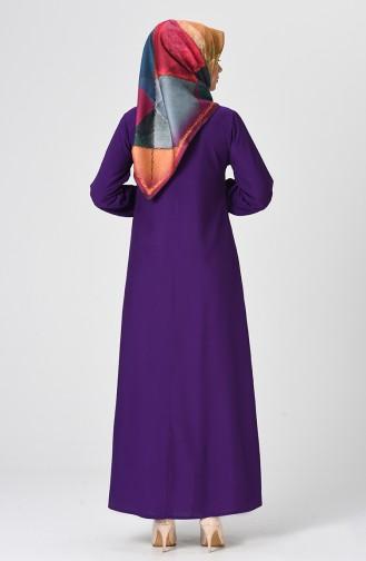 Robe Froncée 1207-02 Pourpre 1207-02