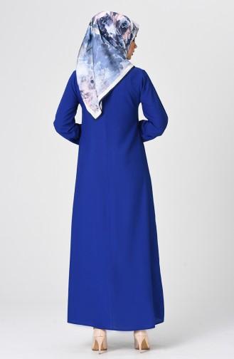 Robe Froncée 1207-01 Bleu Roi 1207-01