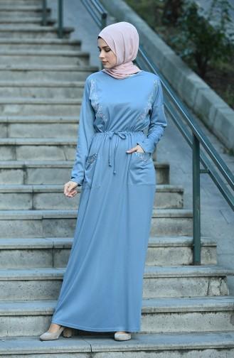 فستان نيلي 8055-01