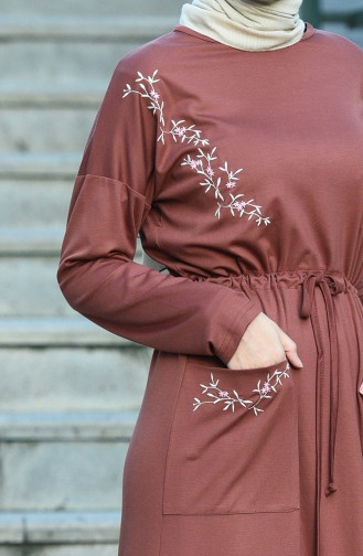 فستان بُني 8055-02