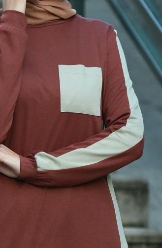 فستان بُني 8075-02