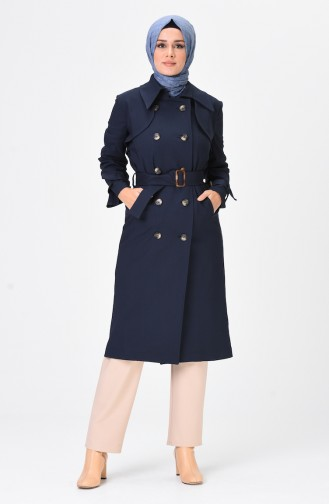 Navy Blue Trench Coats Models 90006-03