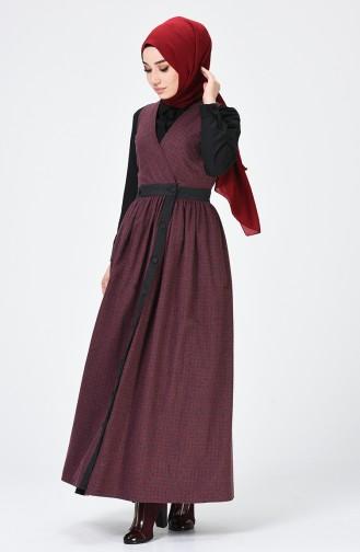 Claret red Gilet 3109-02