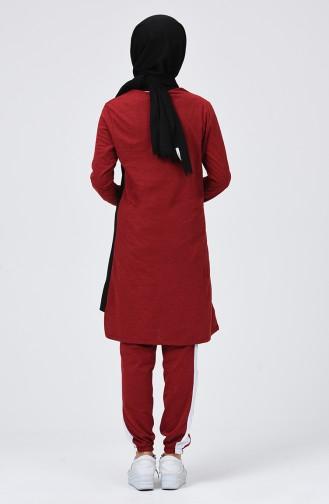 Claret red Sweatsuit 9047-03