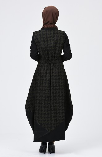 Robe  8005-01 Noir Vert Khaki 8005-01