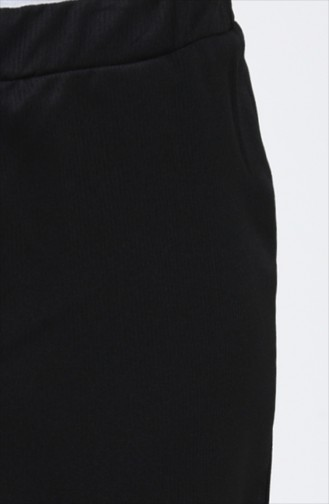 Schlaghose mit Gummi 80216-06 Schwarz 80216-06