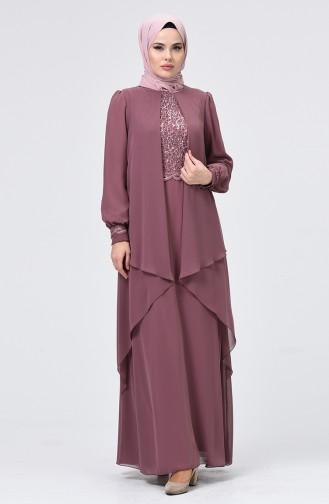 Habillé Hijab Rose Pâle 52765-01