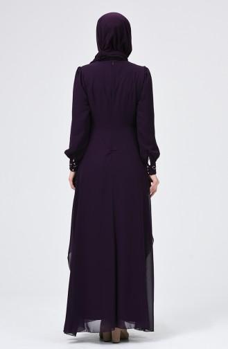 Lila Hijab-Abendkleider 52765-07