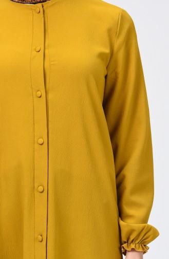 فستان أخضر زيتي 4503-02