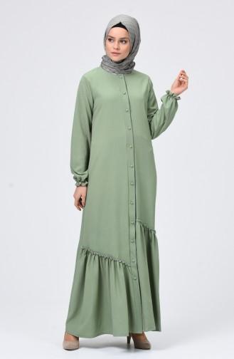 Unreife Mandelgrün Hijap Kleider 4503-07