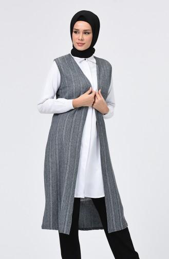 Grau Strickjacke 1169-01