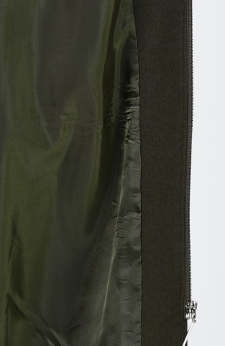 معطف طويل كاكي 9014-06