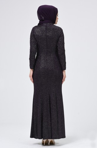 Lila Hijab-Abendkleider 60075-01