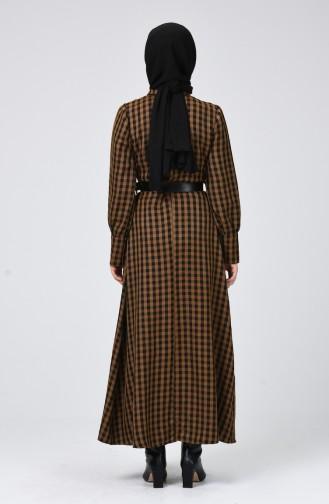 Ölgrün Hijap Kleider 5954-04