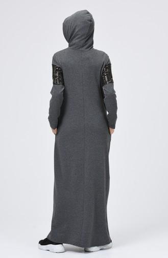 Robe Hijab Gris Foncé 5957-04