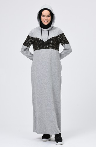 Grau Hijap Kleider 5957-06