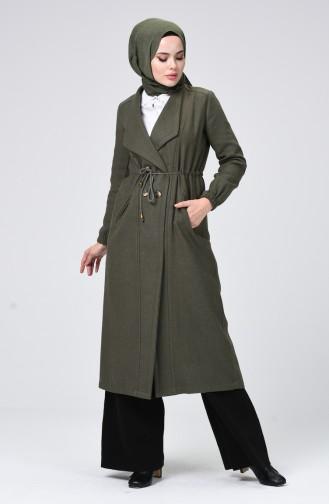 معطف طويل كاكي 5494-08