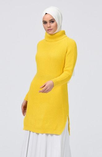 Turtleneck Tricot Sweater Yellow 2220-08