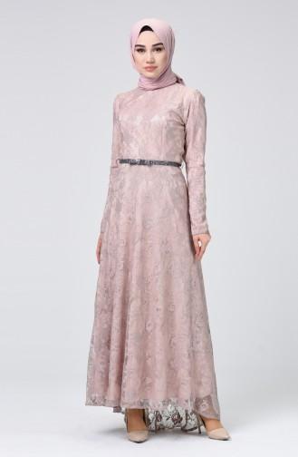 Puder Hijab-Abendkleider 4718A-01
