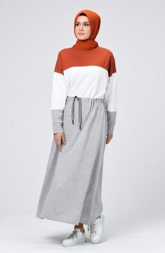 Grau Hijap Kleider 0782-01