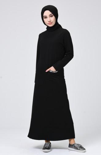 Black İslamitische Jurk 1099-01