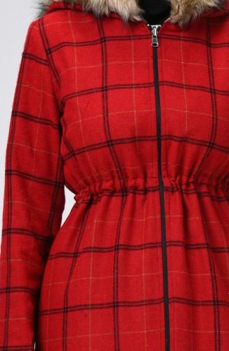 Caban à Double Face  6831-04 Noir Rouge 6831-04