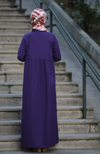 Robe Hijab Pourpre 5037-13