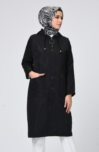 Schwarz Regenmantel 1020-05
