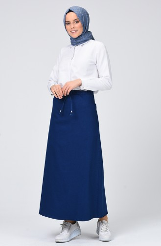 Jupe Bleu Pétrole 1142-03
