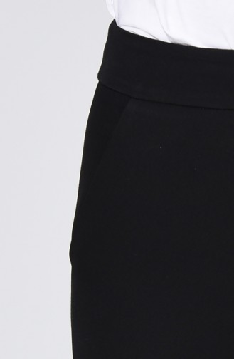 Classic Straight Trousers With Pockets Black 1113-04