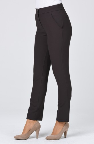 Classic Straight Trousers With Pockets Dark Gray 1113-06