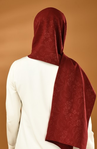 Patterned Woven Shawl Bordeaux 8003-03
