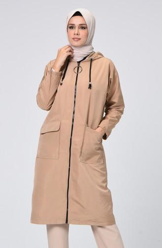 معطف واق من المطر بني مائل للرمادي 1020-01