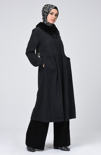 Zipper Filt Coat Anthracite 5038-07