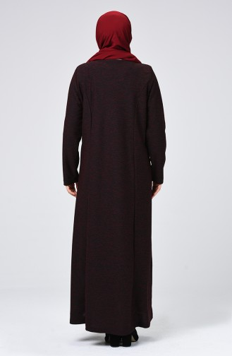 Robe Hijab Bordeaux 8046-02