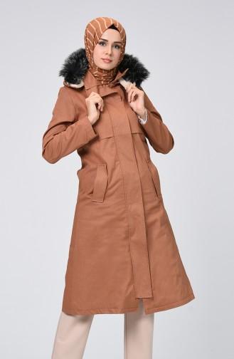 Zimtfarbig Mantel 0111-01