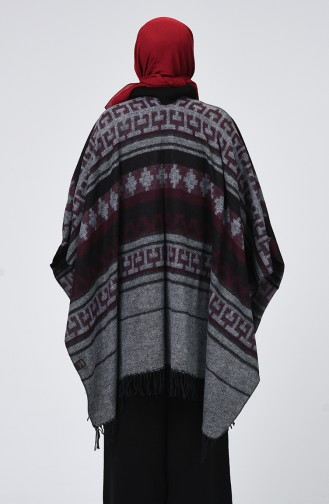 Claret red Poncho 901555-14
