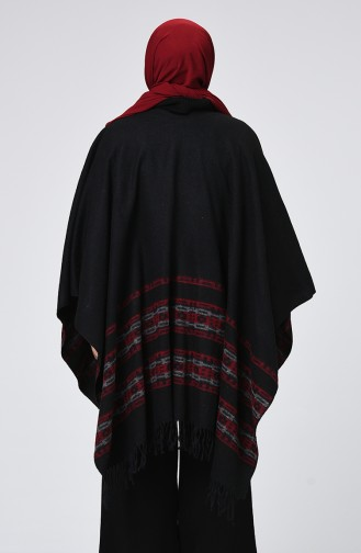 Claret red Poncho 901555-25