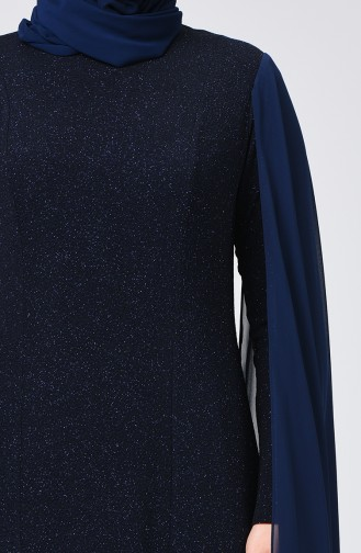 فستان أزرق كحلي 1311-02