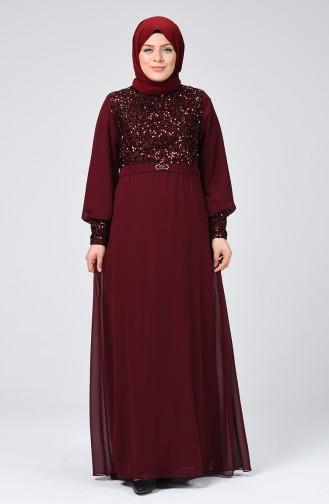 فستان أحمر كلاريت 1312-03