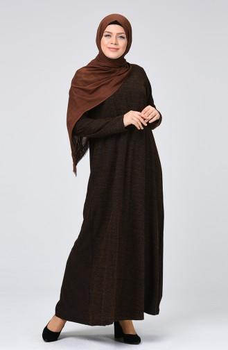 Robe Hijab Tabac 8046-01