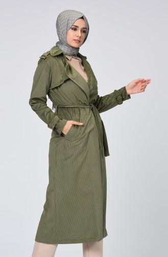 Khaki Trench Coats Models 5872-01