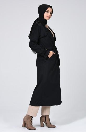 Black Trench Coats Models 5872-03