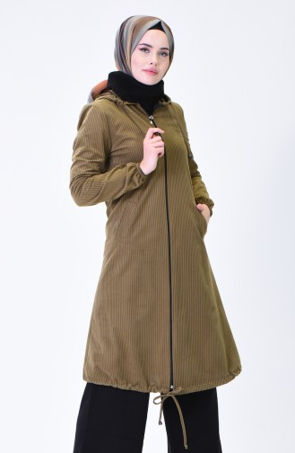 Hooded Velvet Cape Green 0095-07