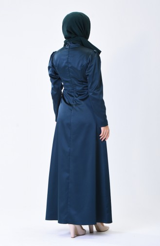 Habillé Hijab Pétrole 1008-03