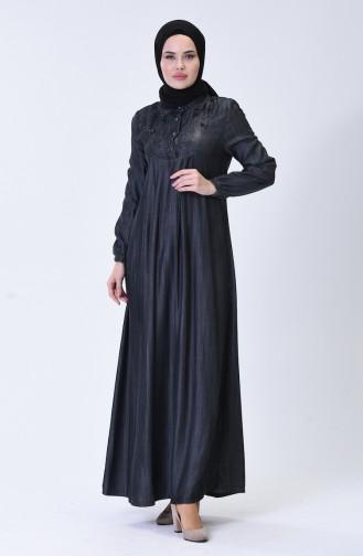 Grau Hijap Kleider 9141-02