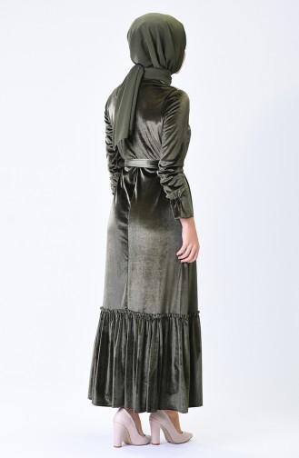 فستان كاكي 5053-03