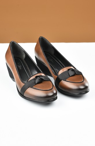 Chaussures a Talons Tabac 27709-02