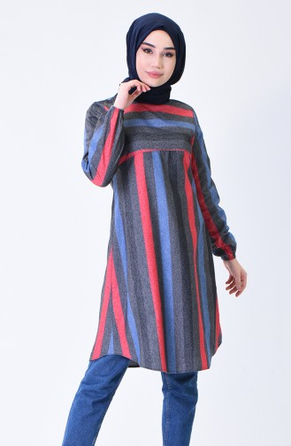 Elastic Sleeve Winter Tunic Smoky Bordeaux 1138A-01